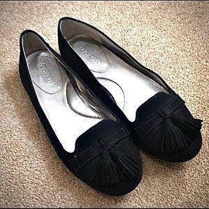 Coach velvet ballet flats❤️So comfy like new⭐️